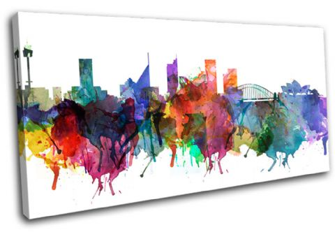 Sydney Watercolour  Abstract City - 13-6033(00B)-SG21-LO